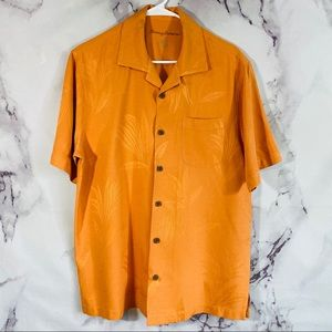 Tommy Bahama Orange silk shirt sz m